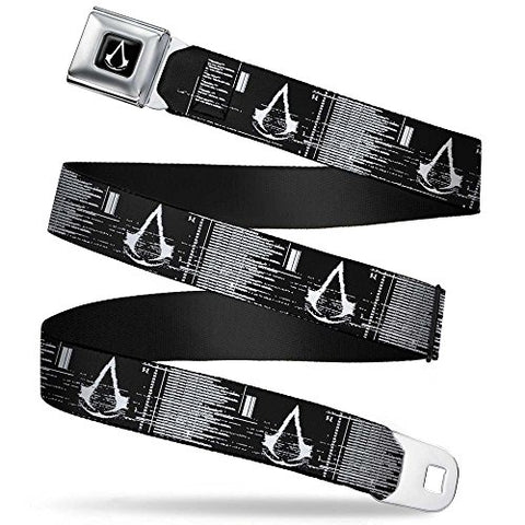 Crest/screen Gltich Black/white Seatbelt Belt