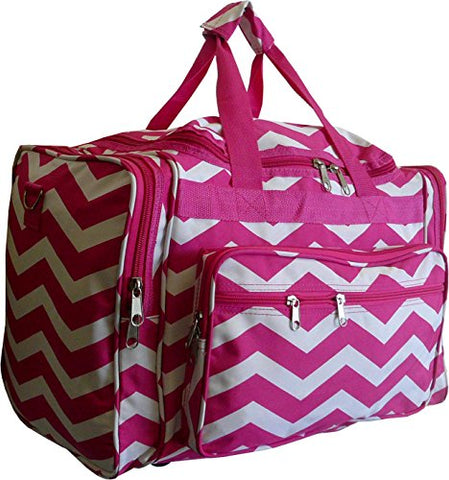 Chevron Print Carry-on Duffel Bag - 19 inch (Pink)