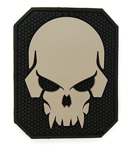 Pirate Skull Patch - PVC (BLACK (SWAT))