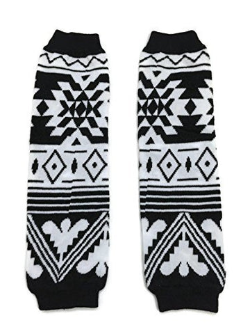 KWC - American Indian Tribal Black & White Baby Toddler Leg Warmer (Butterfly)