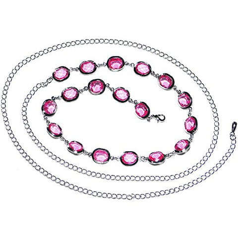Fashionista Fancy Pink Adjustable Belly Chain