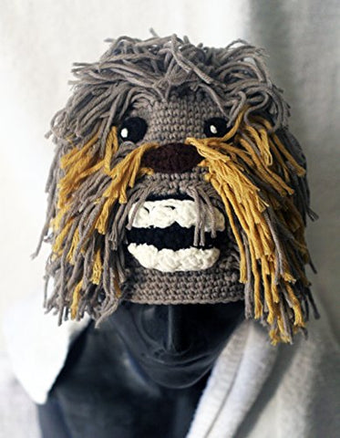 Milk protein cotton yarn handmade Chewbacca hat - fits 3-8 year old child