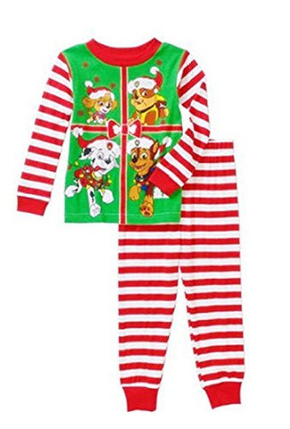 Paw Patrol Little Boys Toddler Christmas Cotton Pajama Set (3T, Red)
