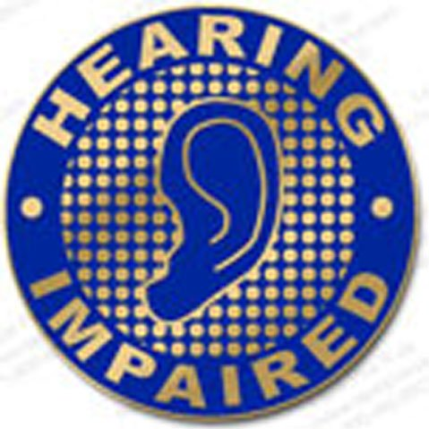 Hearing Impaired Lapel Pin