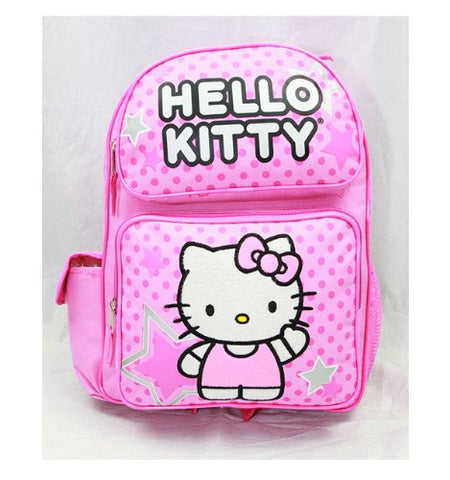 Sanrio Hello Kitty Pink 16  Large Backpack School Bag with Star (JoyAve)
