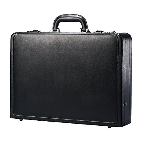 Samsonite Bonded Leather Attach Case, 13'H x 17.9'W x 4 1/4'D, Black