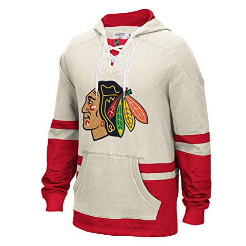 Chicago Blackhawks Men's CCM Pullover Hooded Sweatshirt White XL