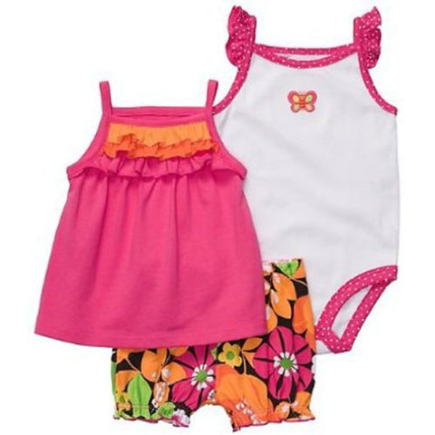 Carter's Oh-So-Fun 3-Piece Set - Flowers & Butterfly-6 Months