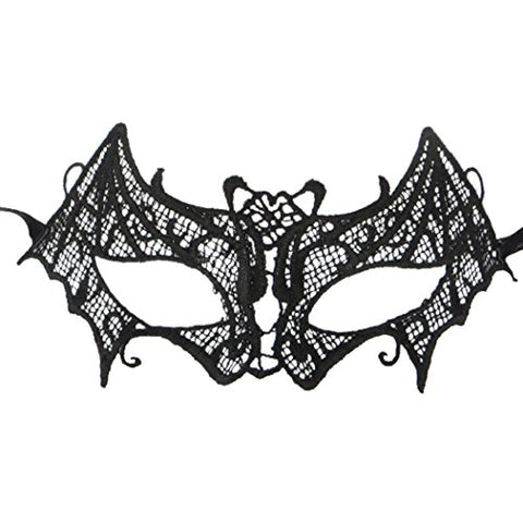 Women Girl Lace Mask Prety Sexy Eyemask for Masquerade Ball Prom Party Black