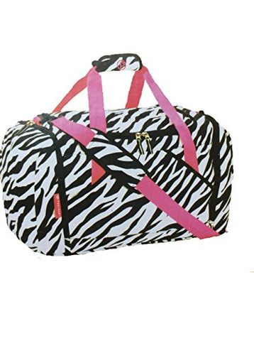 Fashion Duffel 21-inch Zebra Design, 21in W x 11in D x 12in H