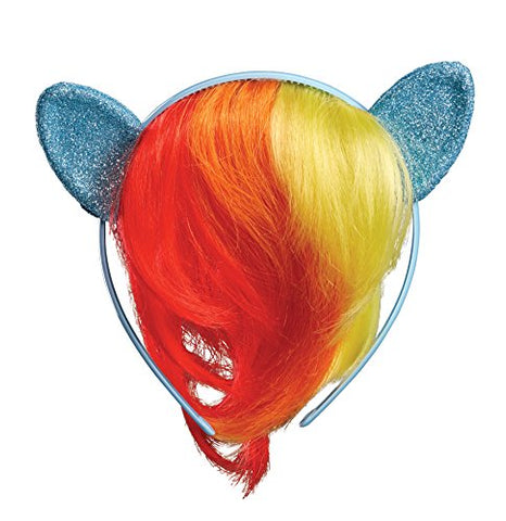 Rainbow Dash Child Movie Headpiece with Hair