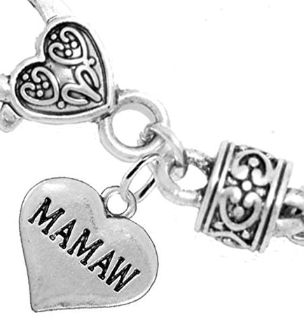 Mamaw Heart Charm Bracelet2016 Hypoallergenic, Safe, Nickel, Lead, & Cadmium Free!
