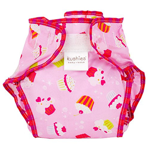 Kushies Waterproof Diaper Wrap, Pink Cupcakes, Infant