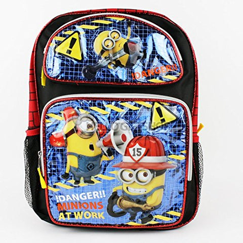 Despicable Me Minions At Work Glitter Boys and Girls School Backpack