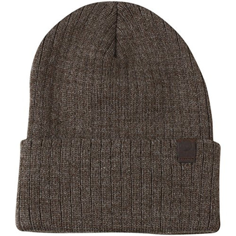 Timberland Kids Boy's Brown Ribbed Watch Cap Beanie Hat (One Size Fits Most)