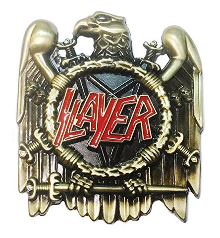 Slayer Thrash Metal Band Metal/Enamel Belt Buckle