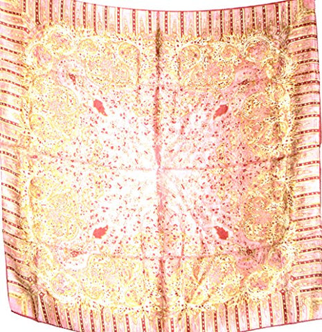 Silk Salon Brand New 100% Jacqard Charmeuse Silk Scarf Shawl Wrap Floral Pink A277