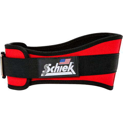 Schiek Sports Nylon Lifting Belt - 6 Inch Size: Small Red
