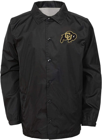 "Ncaa By Outerstuff Ncaa Colorado Buffaloes Youth Boys ""Bravo"" Coaches Jacket, Black, Youth Small(8)"