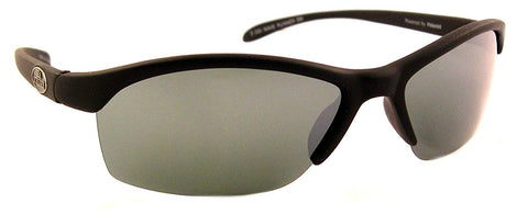 Sea Striker Wave Runner Polarized Sunglasses, Black Frame, Silver Mirror Lens
