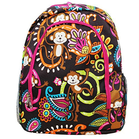 Monkey Print NGIL Canvas School Backpack
