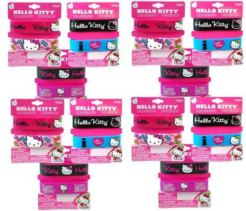 Hello Kitty 2 pc Embossed Rubber Printed Bracelet x 12 packs (total of 24 pcs bracelet)
