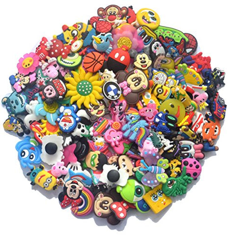 Different 101 Pcs PVC Shoe Charms for Croc & Jibbitz Bands Bracelet Wristband For The Beach Camping