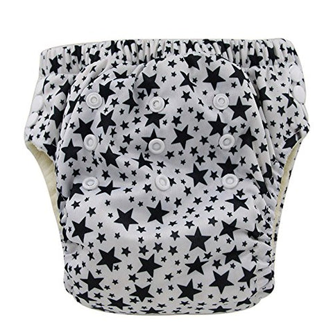 Ohbabyka Baby Training Pants Washable Reusable Nappy Diaper,Stars (XLK02)