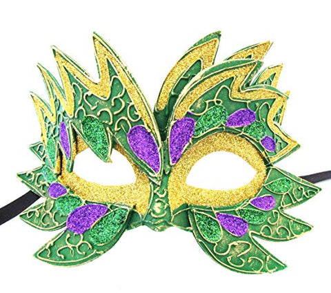 Star Fire PGG with Green Eyes Mask Venetian Style Halloween Mardi Gras Party