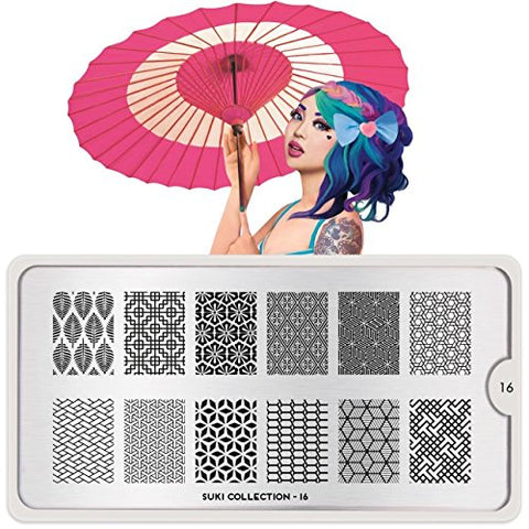 MoYou London Nail Stamping Plate Suki Collection 16 Shipping within 24h US Stock