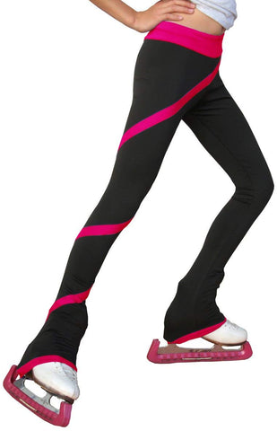 Chloe Noel Figure Skating Spiral Pants P06 Fuchsia Child Medium