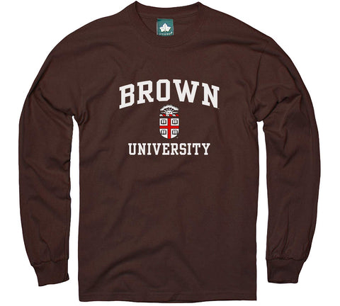 Ivysport Brown University Long-Sleeve T-Shirt, Crest, Brown, Xx-Large