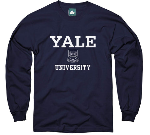 Ivysport Yale University Long-Sleeve T-Shirt, Crest, Navy, Medium