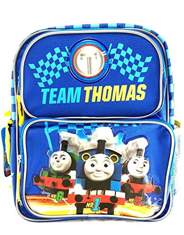 Team Thomas the Train Engine 12  Canvas Blue School Backpack No1 Thomas