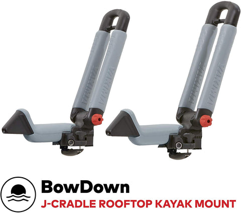 Yakima - Bowdown Rooftop Mounted Kayak Rack For Vehicles, Carries 1 Kayak Or Boat