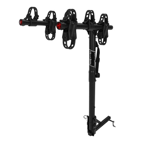 "Hollywood Racks Hr6500 Traveler 3-Bike Hitch Mount Rack (1.25 And 2-Inch Receiver), Black, 1.25"" And 2"" Receiver"