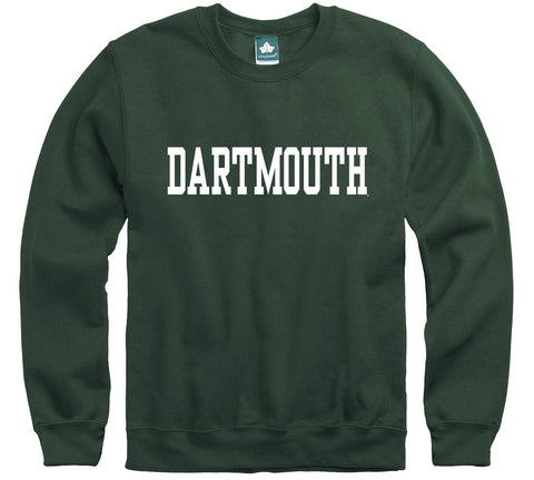 Ivysport Dartmouth College Crewneck Sweatshirt, Classic, Hunter Green, Small