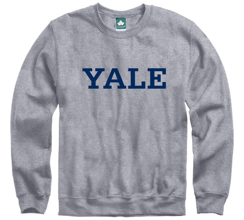 Ivysport Yale University Crewneck Sweatshirt, Classic, Grey, Small