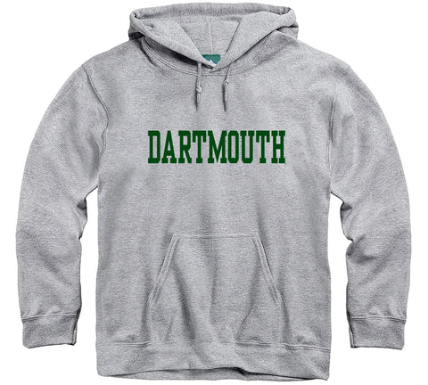 Ivysport Dartmouth College Hooded Sweatshirt, Classic, Grey, Large