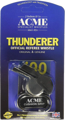 Acme Thunderer Finger Grip Metal Whistle Nickel-Plated (477/58.5) Large