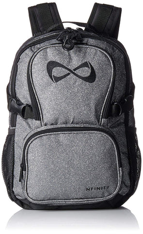 Nfinity Grey/Black Sparkle Backpack