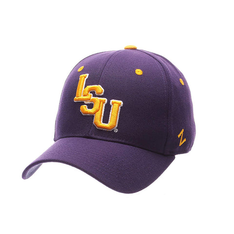 Zephyr Ncaa Lsu Tigers Men'S Dh Fitted Cap, Purple, Size 7 3/8