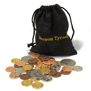 Raccoon Tycoon Metal Coin Set