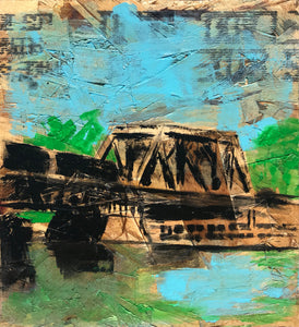 Train Bridge Nicollet Island, Nº 1, 12 x 12