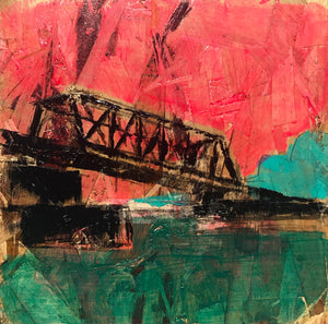Train Bridge Nicollet Island, No. 2, 12 x 12