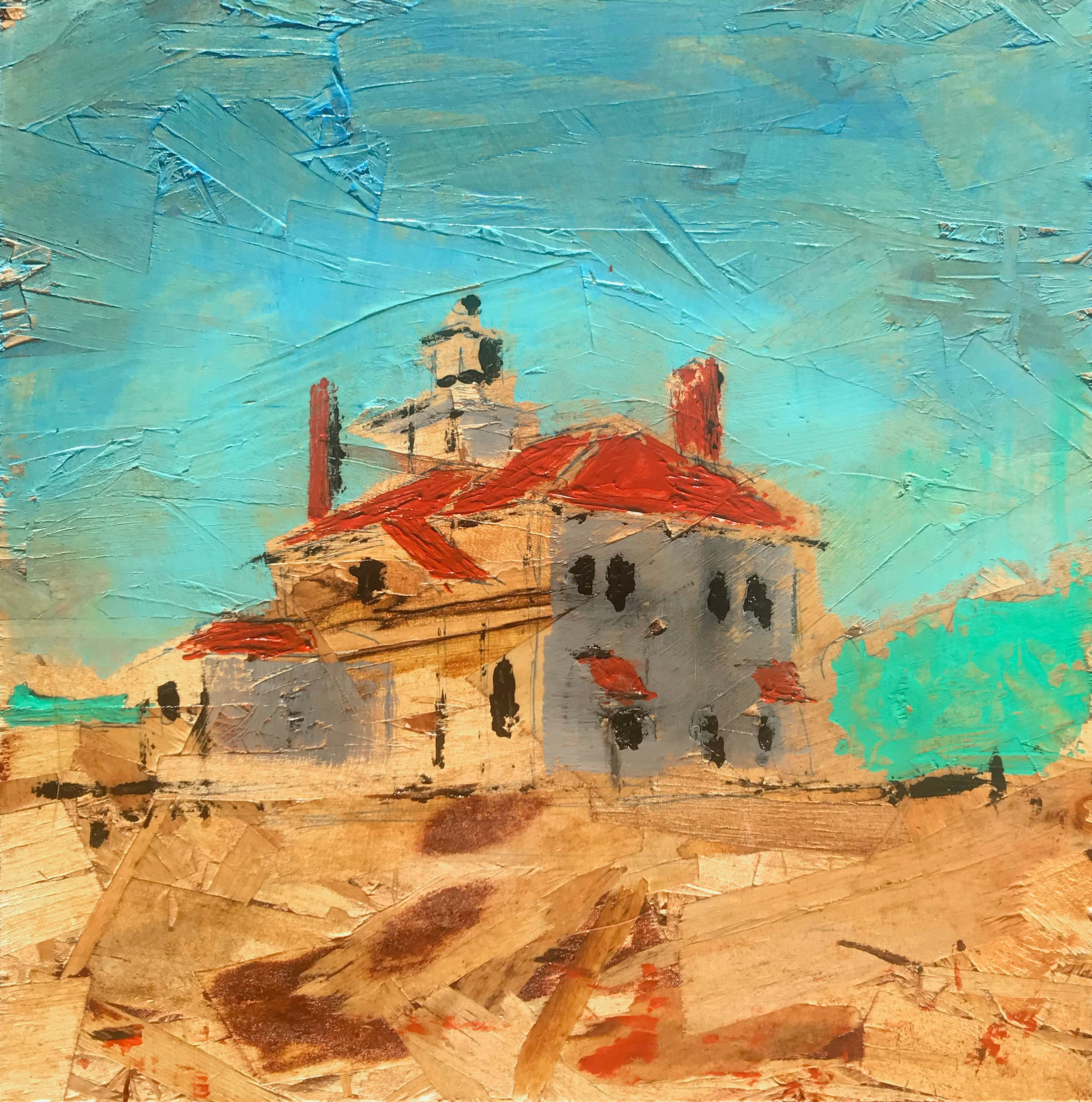 Raspberry Island Lighthouse, Nº 1, 12 x 12