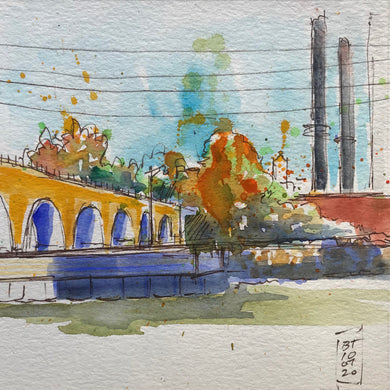 Stone Arch Bridge and Power Plant 10.07.20