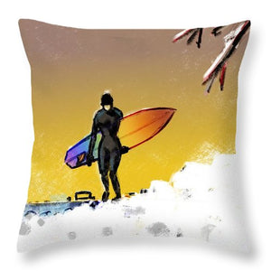 Cold Call - Throw Pillow