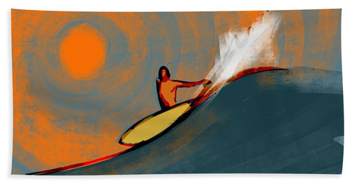 Happy Hour Cutback - Beach Towel