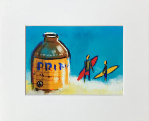 "Primo Surf - Matted Print (fits into 8"" x 10"" frame)"